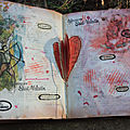 Art journal : saint-valentin