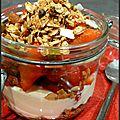 Verrines aux fraises, mascarpone et granola