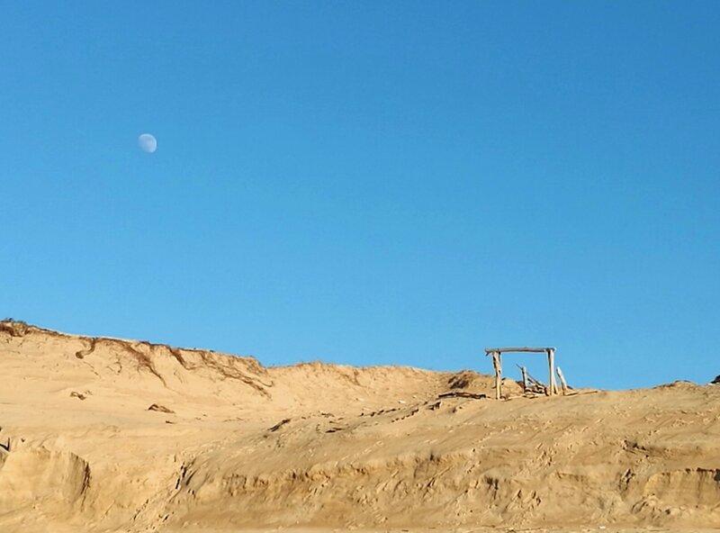 Labenne-Océan, dune et lune en hiver, insta