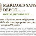 Mariage sans dépôt !!