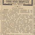 Samedi 26 novembre 1938