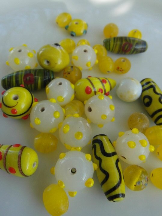 perles fancy jaune 5