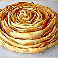 Tarte briochée roulée aux pommes