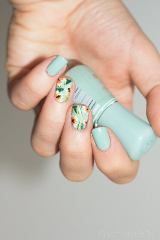 nail art tropical essence mint