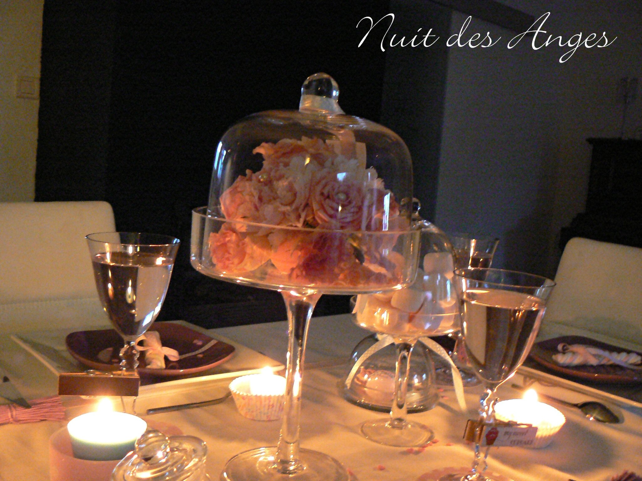 D coration de table gourmandise nuit des anges for Decoration table gourmandise