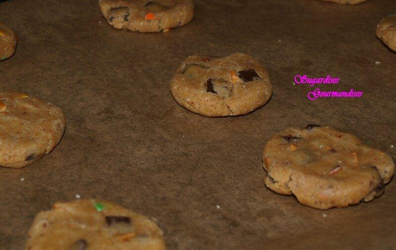 cookie aplatie pret a cuire