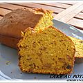 CAKE POTIRON AUX ECORCES D'ORANGES CONFITES / PEPITES DE CHOCOLAT