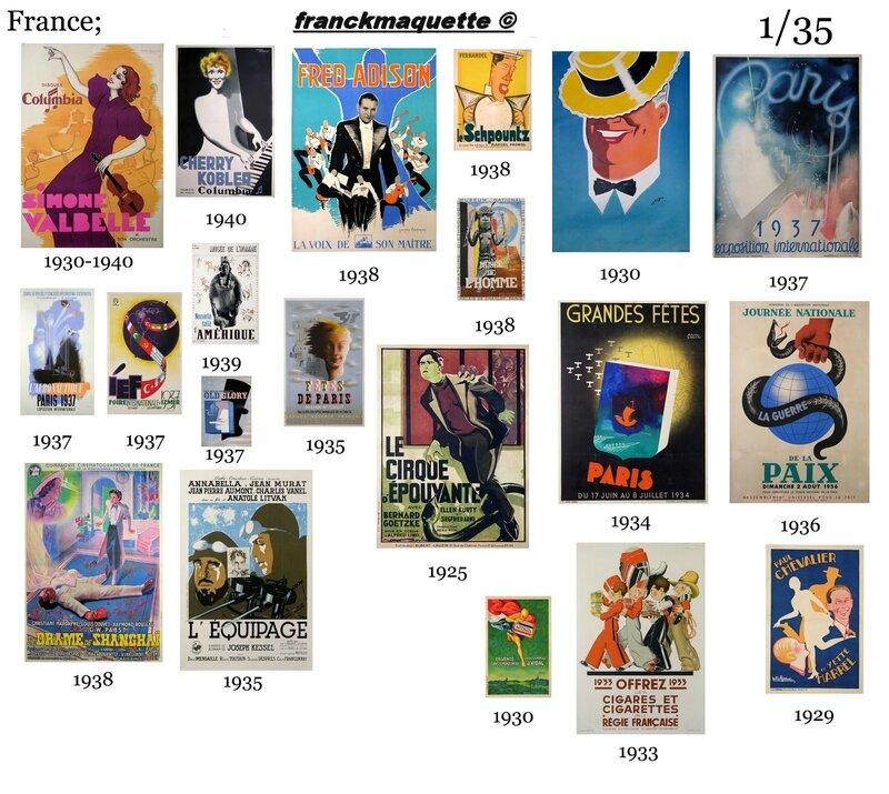 affiche cabaret francaise 1929 franckmaquette