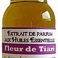 Extrait de parfum fleur de tiaré - perfume extract tiaré flower