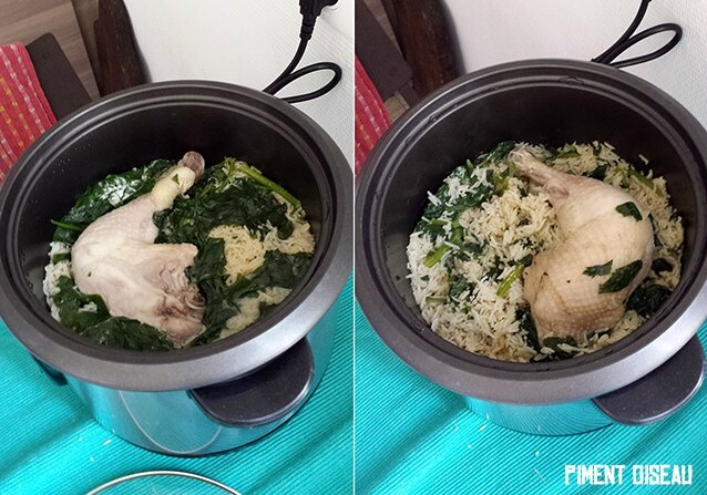 poulet rice cooker