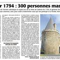 5 février 1794, 300 personnes sont massacrées à gesté