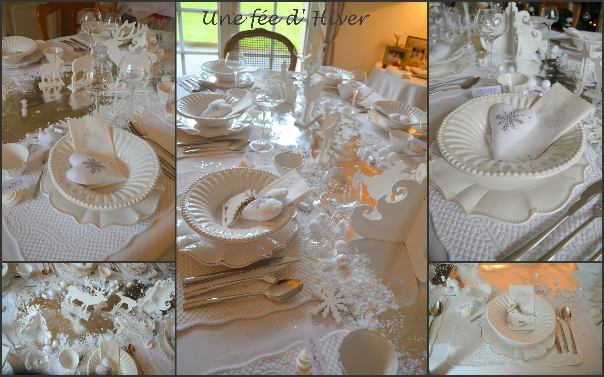 La deco de table pour le reveillon de noel une fee for Table de noel chic