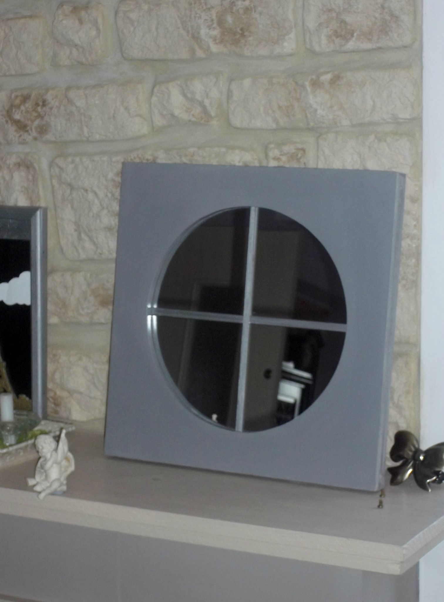 oeil de boeuf miroir crasville deco chantournage. Black Bedroom Furniture Sets. Home Design Ideas