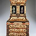 An important early 18th century venetian arte povera bureau bookcase. italy, ca 1740