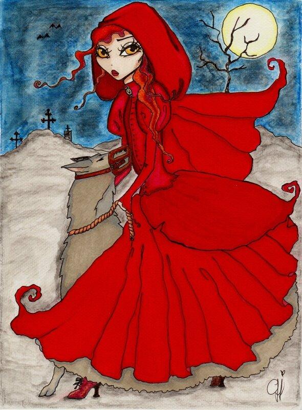 Le Petit Chaperon Rouge Dessin En Couleur