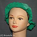 chapeau vert et blanc c