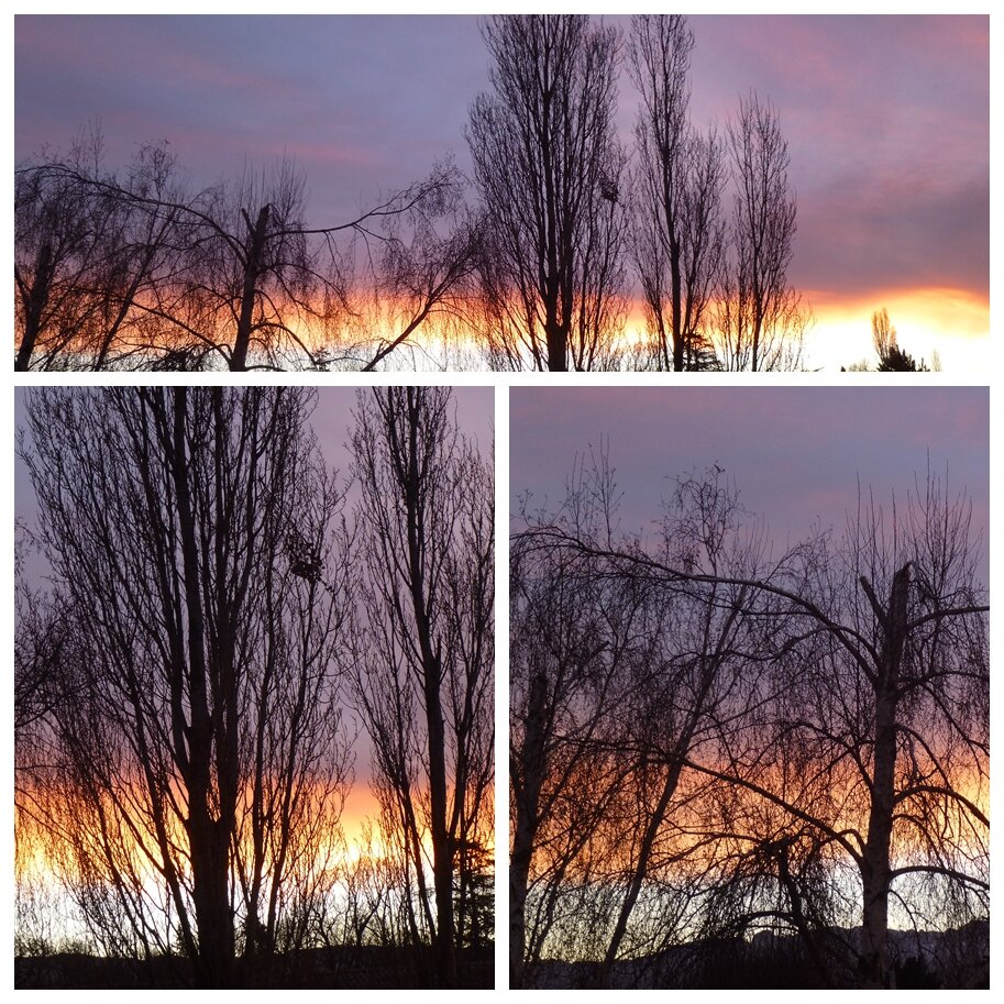 lever de soleil d'hiver