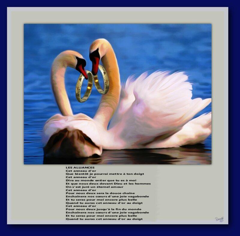 cygnes avec poème