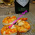 Gambas rôties
