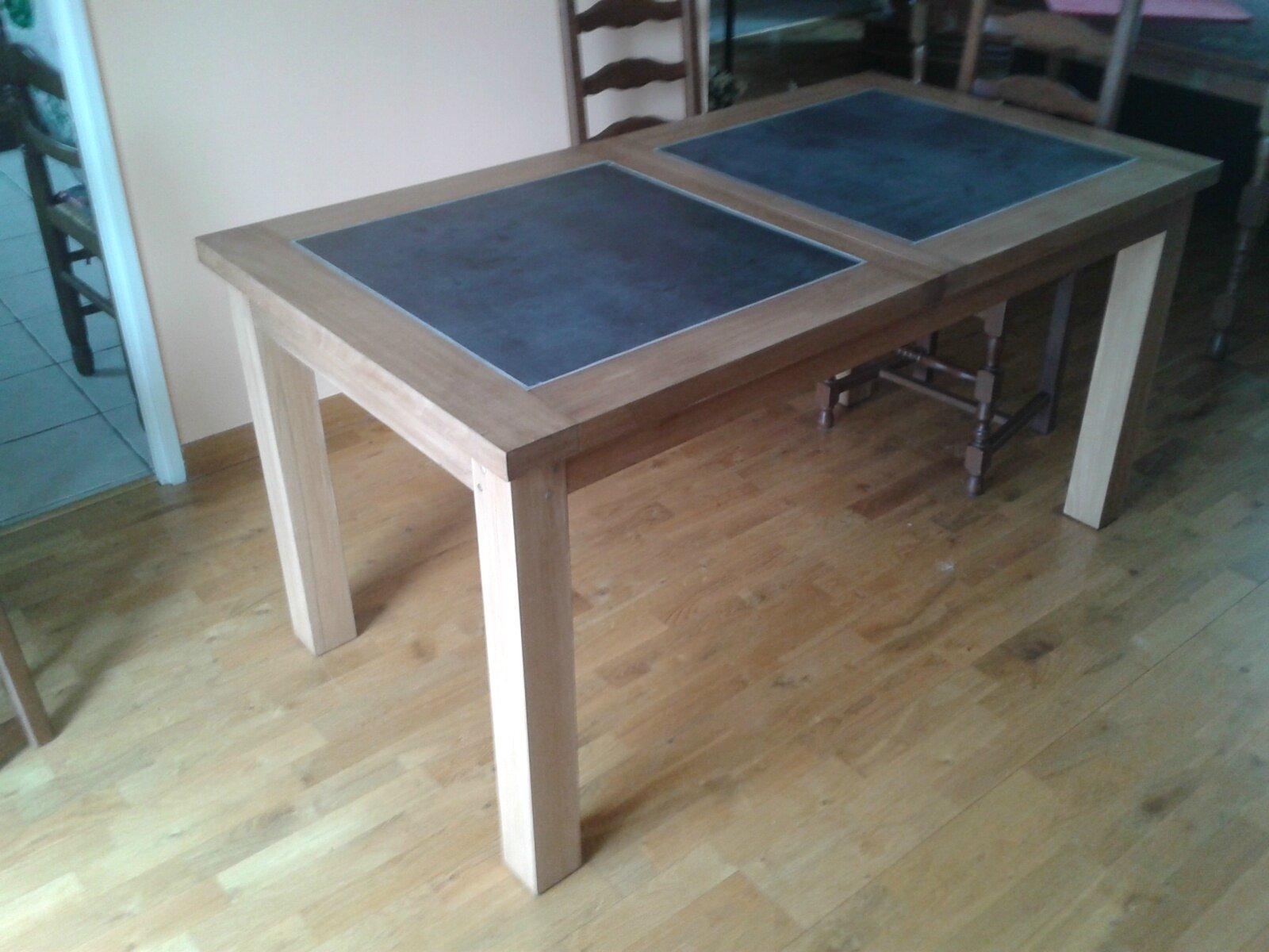 Table rallonges dessus c ramique grenouille la d brouille for Fabriquer table extensible