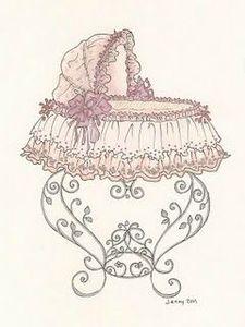 moses basket drawing 3