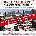 Soiree solidarite - champs sur marne le 07 octobre