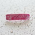 barrette marbré rose 3 €