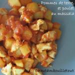 pommes de terre poulet massala