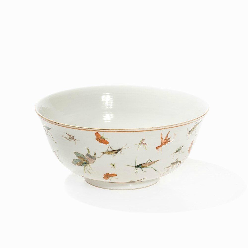Large Bowl with a Décor of Insects, Guangxu Mark and Period (1875-1908)