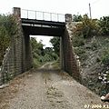 Dernier pont avant l'arrivée à la gare de Mugron (vue en direction de Montaut)