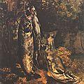 Courbet, les trois truites de la Loue