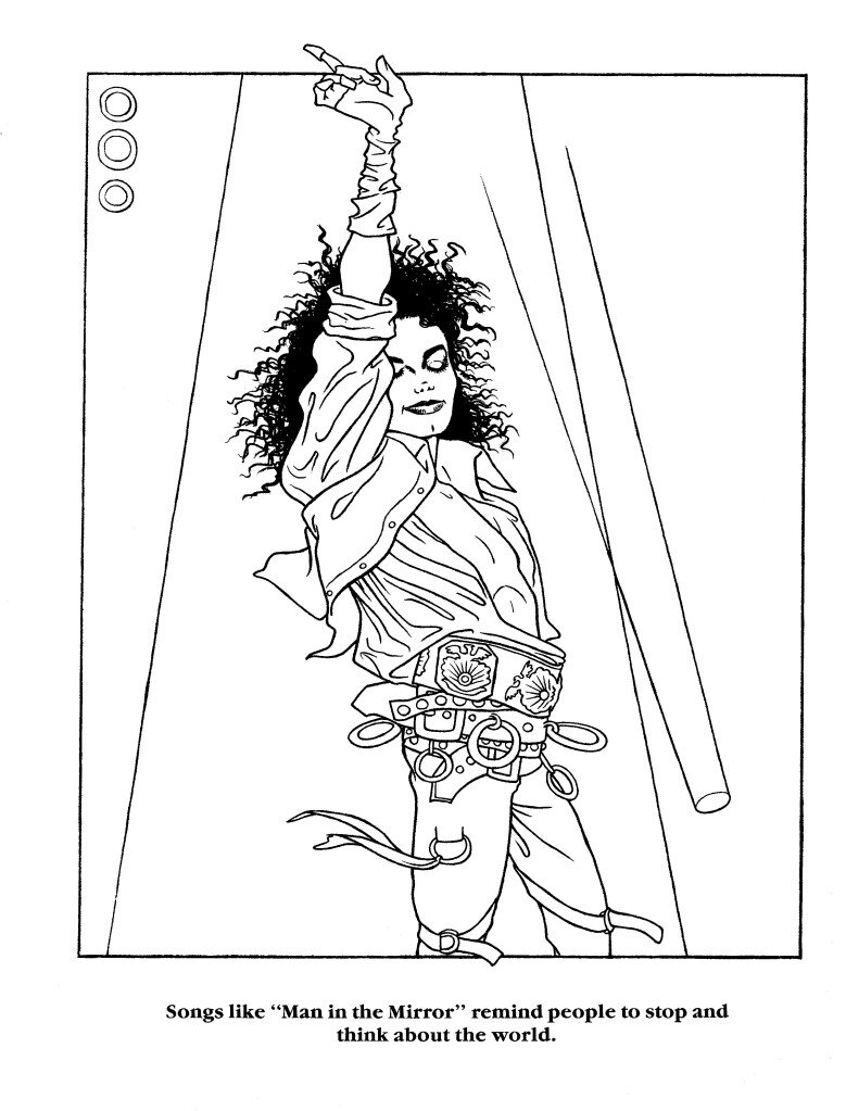 Free Coloring Pages Of Michael Jackson