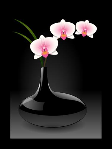 Vase noir