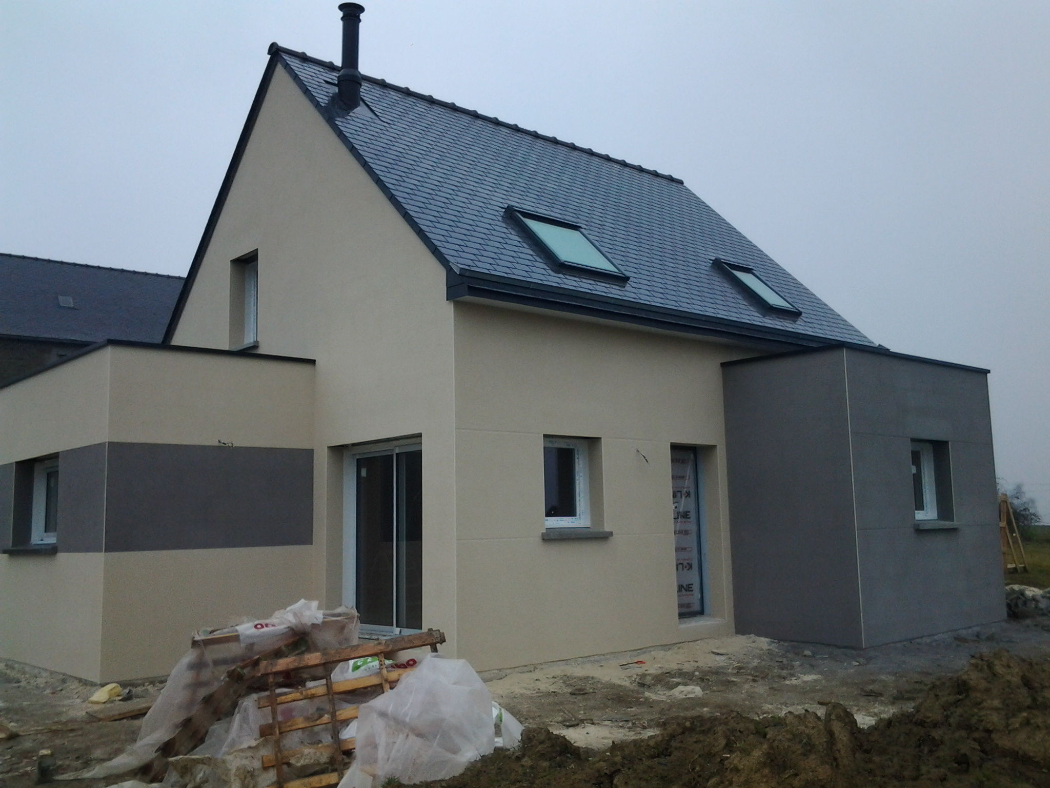 Enduit ext rieur fini construction d 39 une maison d for Crepis exterieur