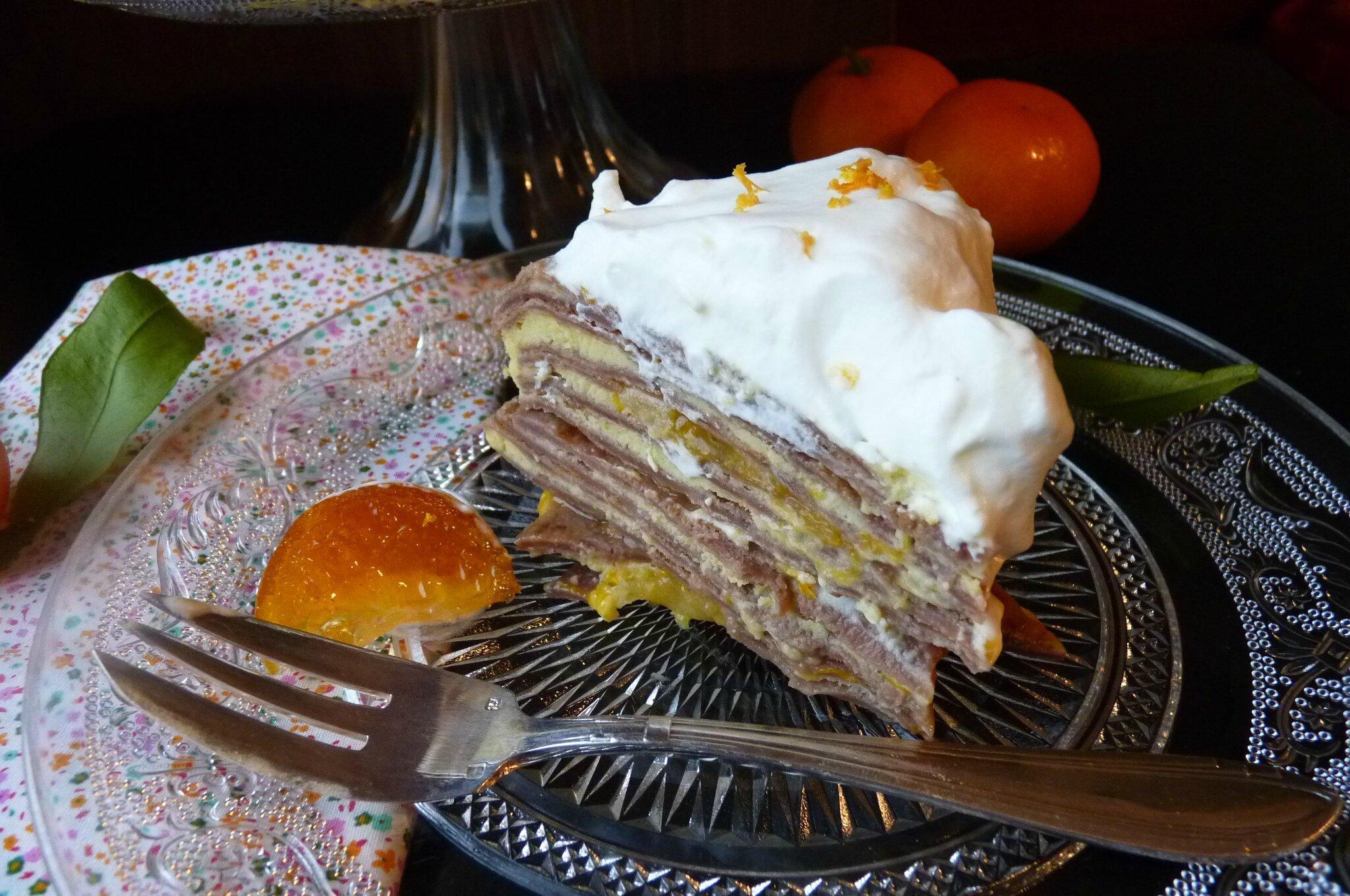 Gâteau de crêpes à la clémentine
