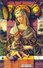 La vierge à l'enfant Carlo Crivelli 1480