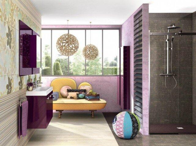 Le gris dans la deco 2 so d co - Salle de bain violet ...