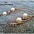 Diy - joncs strass et perles