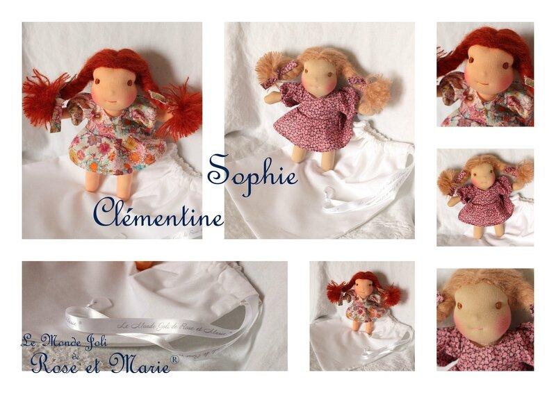 Sophie et Clémentine - Le Monde Joli de Rose et Marie