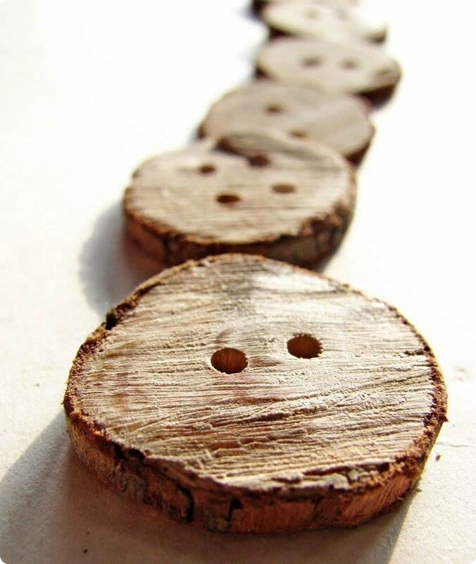 boutons en bois faits maison