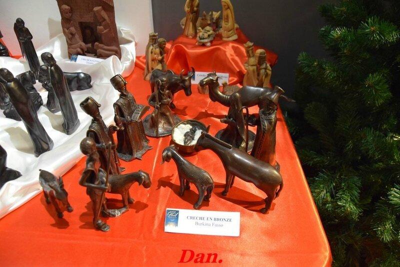 crèche en bronze Burkina Fasso