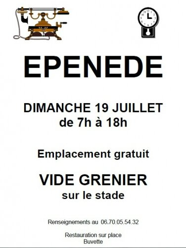 Epen de vide grenier photo de les villages de nos anc tres mes news entr - Difference entre brocante et vide grenier ...