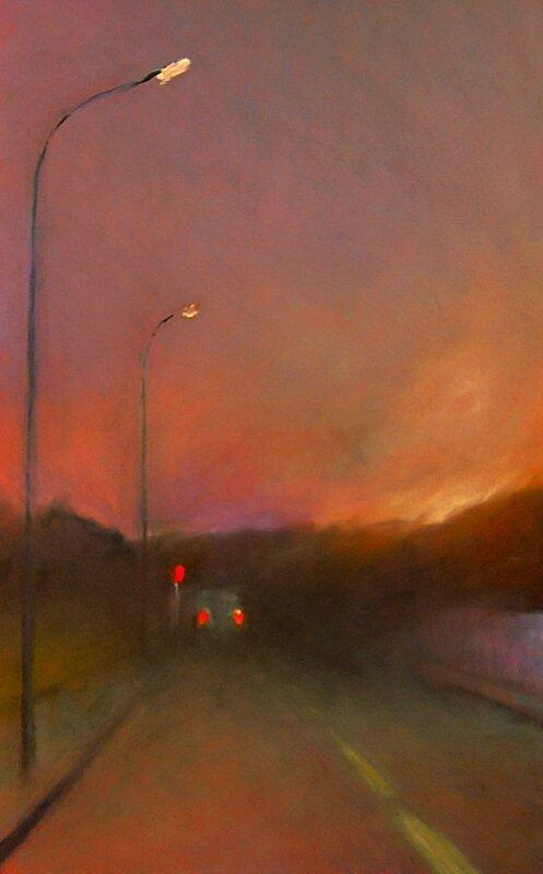 K nowhere 46, dec 2015, pastel à l'huile, 32 x 48 cm