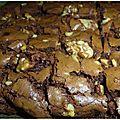 Brownies au chocolat noir et noix