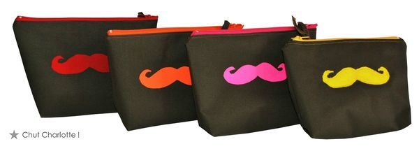 Trousses moustaches kaki