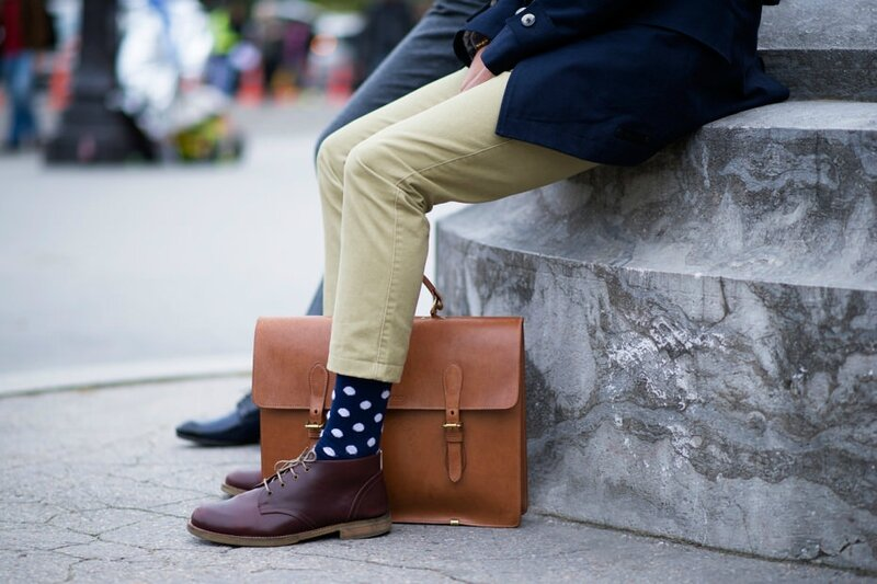 menswear-style-dotted-socks-camel-briefcase