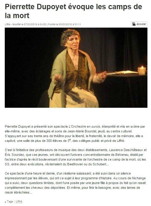 ouest france Pierrette Dupoyet
