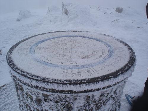 2008 12 22 Au sommet du Mont Pilat la table d'orientation