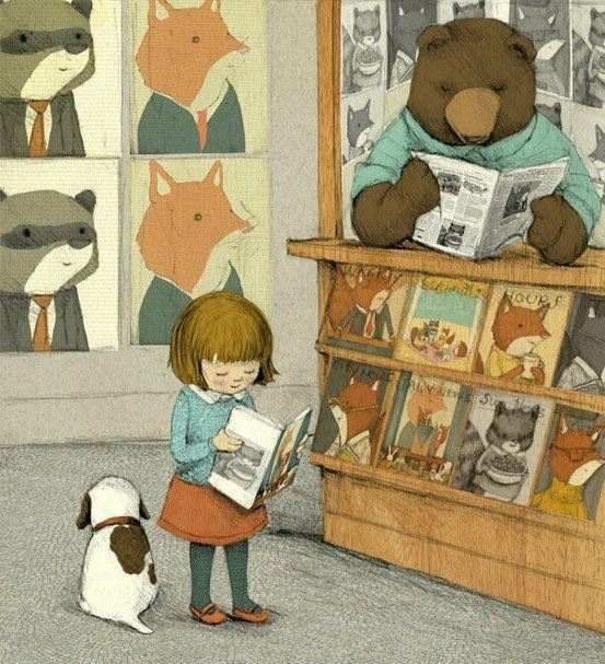 Mister Bear's bookshop