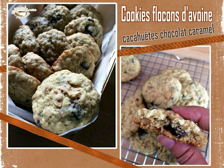 cookies flocons d'avoine chococaramel cacahuètes(SCRAP)